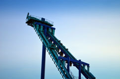 People riding Stinger Roller Coaster Dorney Park royalty free stock photos