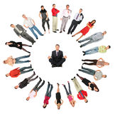 People Ring Collage Royalty Free Stock Photography