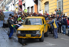 People Rioting in Bolivia Royalty Free Stock Image