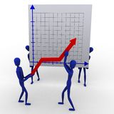 People rising a graph Stock Photos