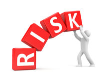 People with risk cubes Stock Photo