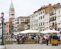 People in the Riva degli Schiavoni, Venice Stock Photos