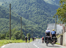People on The Road of Le Tour de France 2014 Royalty Free Stock Photos