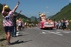 People on the road of the Tour de France Royalty Free Stock Images