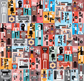 People and Robots Royalty Free Stock Photography