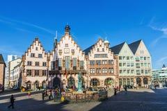 People on Roemerberg square in Frankfurt Stock Image