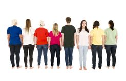People in a row Stock Photos