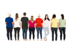 People in a row Stock Photography