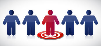 People row and target illustration design Royalty Free Stock Images