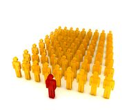 People in a row002 Royalty Free Stock Images