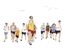 People running Stock Image