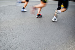 People running in city marathon Royalty Free Stock Photography