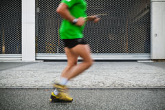 People running in city marathon Royalty Free Stock Photos