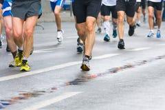 People running in city marathon Stock Image