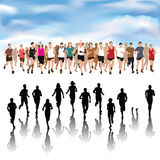 People running collection Royalty Free Stock Photography