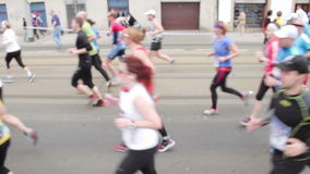 People running at half Marathon event Stock Image