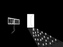 People running for hot jobs, employement concept Royalty Free Stock Photography