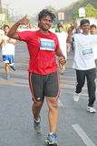 People running at Hyderabad 10K Run Event, India Stock Images