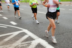 People running in marathon Stock Photography