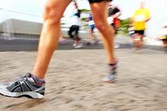 People running marathon Stock Images