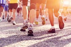 People running marathon Royalty Free Stock Images