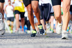 People running marathon Stock Photo