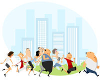 People running marathon Royalty Free Stock Photography