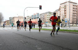 Milano City Marathon Stock Images