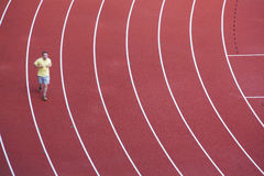 People running on the track Royalty Free Stock Photos