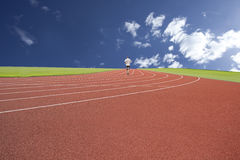 People running on the track Stock Photography