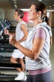 People Running On Treadmill Stock Images