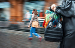 People at rush hour walking in the street Royalty Free Stock Photography