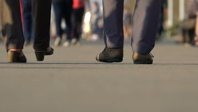 People rush to their business or walk stock footage