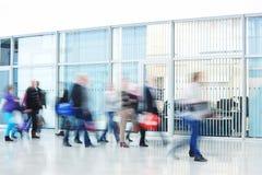 People Rushing through Corridor, Motion Blur Stock Photos