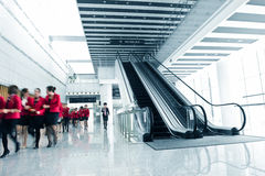 People rushing on escalator Royalty Free Stock Photos