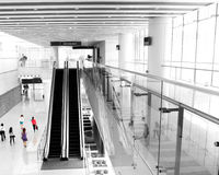People rushing on escalator Royalty Free Stock Photo