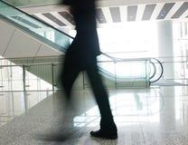 People rushing on escalator Royalty Free Stock Photos