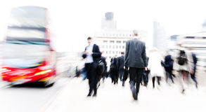 People rushing in London Concept Royalty Free Stock Photo