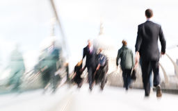 People Rushing in London Concept Stock Images
