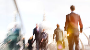 People Rushing in London Walking Business People Concept Royalty Free Stock Image