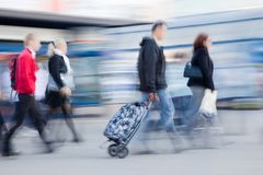 People rushing to work Royalty Free Stock Photography