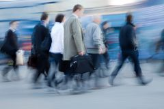 People rushing to work Royalty Free Stock Image