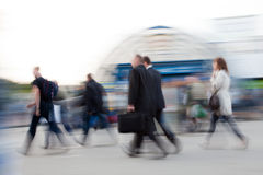 People rushing to work Stock Images