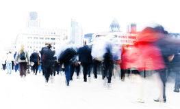 People Rushing to Work Activity Stock Images