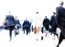 People Rushing to Work Royalty Free Stock Images