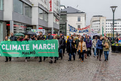 People`s Climate March Malmö. Climate March in Malmö, Sweden 2017-04-29 Aprox 1500 people marched against Climate Changes and Pollution as a part of the Global Stock Image