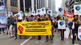 People's Climate March 448 Royalty Free Stock Photography