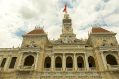 People`s comittee of Ho Chi Minh headquarter. Building in center of the city Stock Image