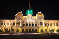 People's Committee building. In Ho Chi Minh City, Vietnam Royalty Free Stock Photo