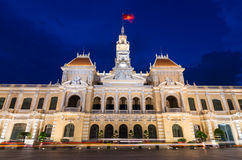 People's Committee Building in Ho Chi Minh City, Vietnam Royalty Free Stock Photos